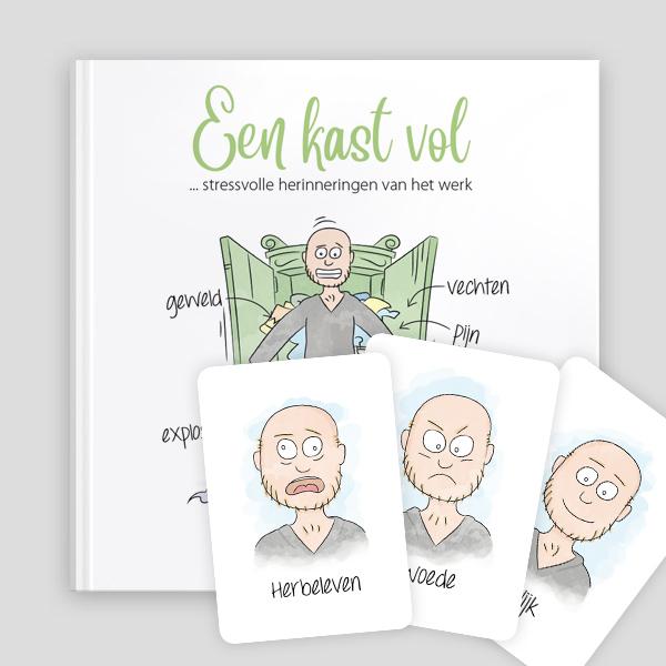Voorkant Defensie boekje met emotiekaartjes
